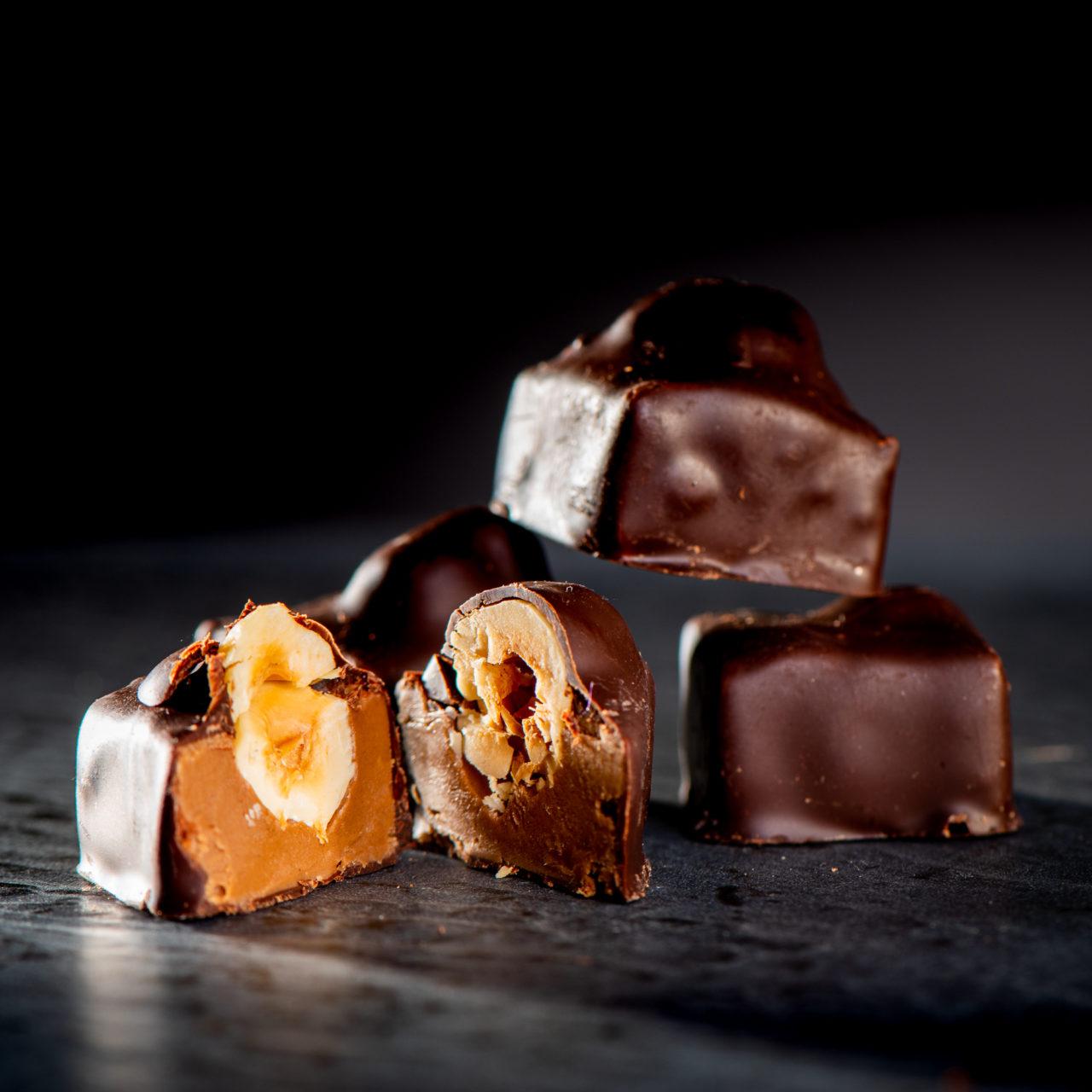chocolat noir praliné noisette