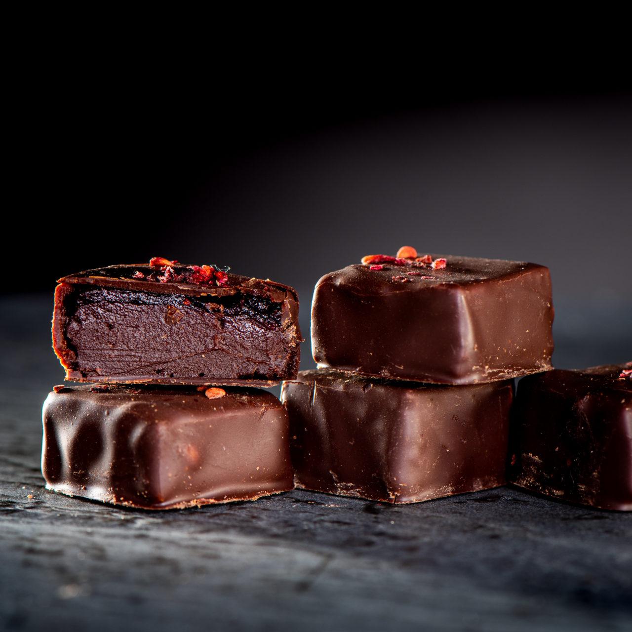 chocolat noir aux fruits : Mandarine